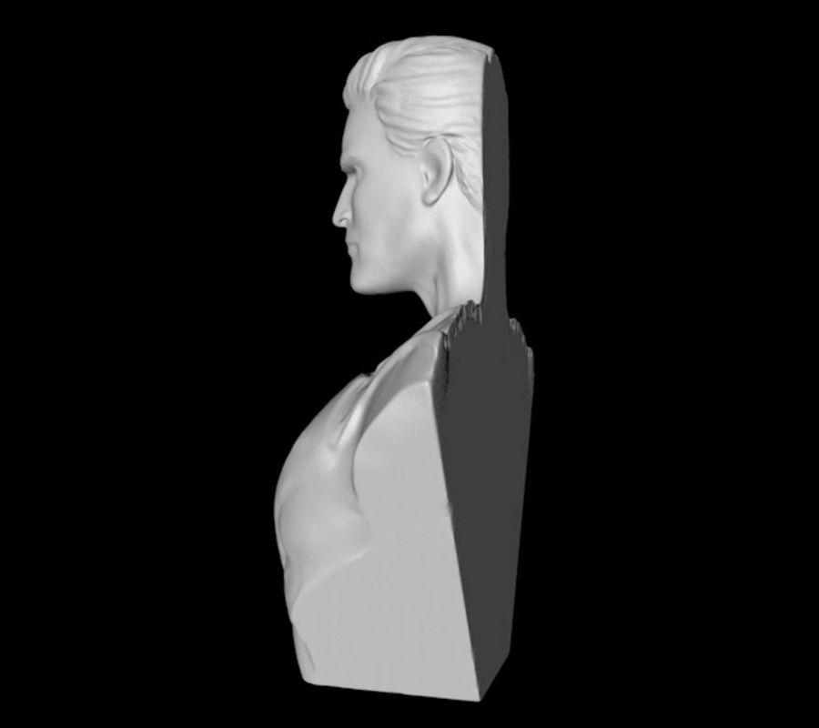Super Man Bust para impresora 3D royalty-free modelo 3d - Preview no. 6