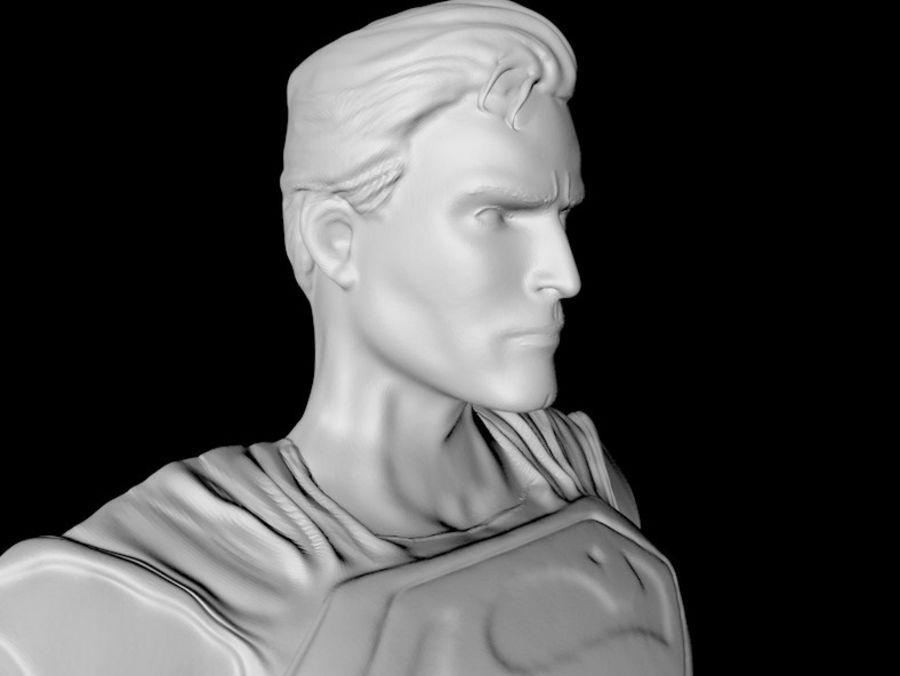 Super Man Bust para impresora 3D royalty-free modelo 3d - Preview no. 3