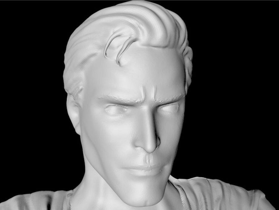 Super Man Bust para impresora 3D royalty-free modelo 3d - Preview no. 2