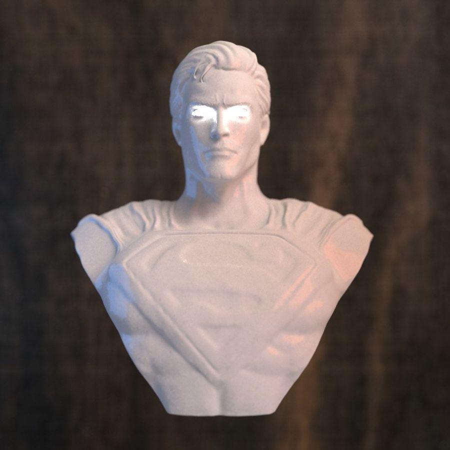 Super Man Bust para impresora 3D royalty-free modelo 3d - Preview no. 1