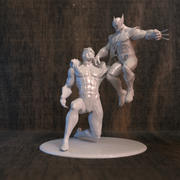 Wolverine & Sabre for 3D Printer 3d model