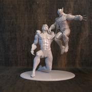 Wolverine & Sabre pour imprimante 3D 3d model