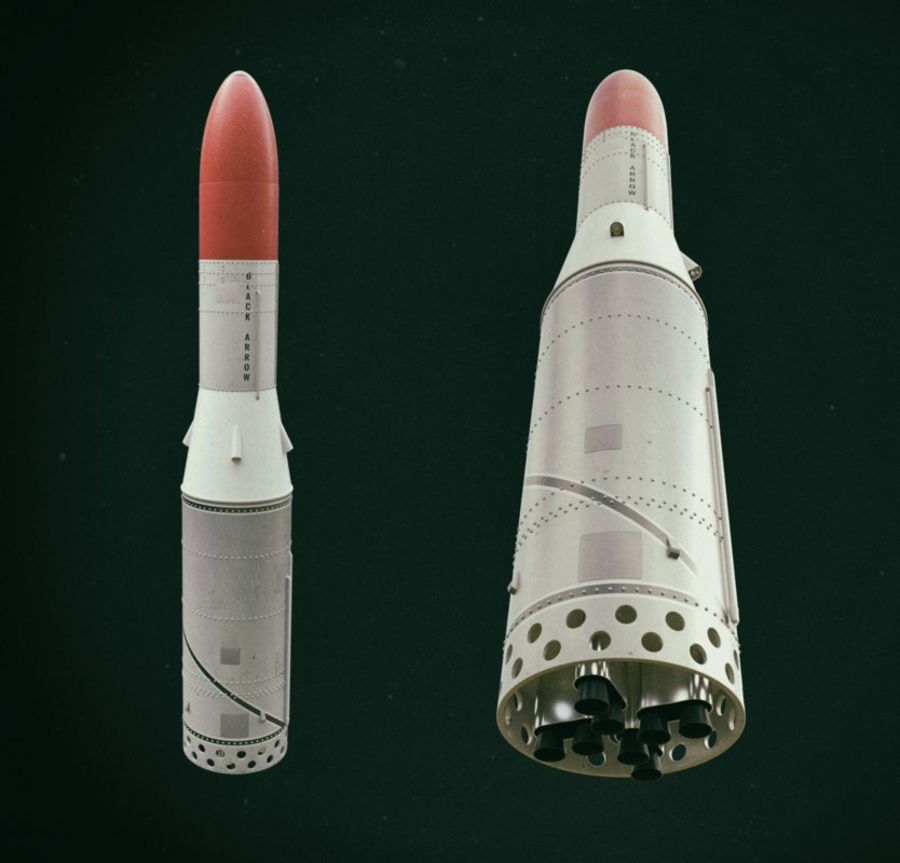 Black Arrow Rocket royalty-free 3d model - Preview no. 10
