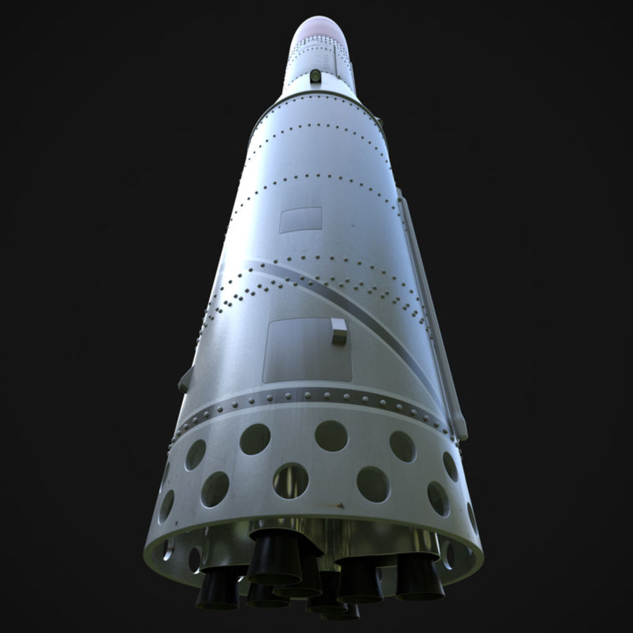 Black Arrow Rocket royalty-free 3d model - Preview no. 9