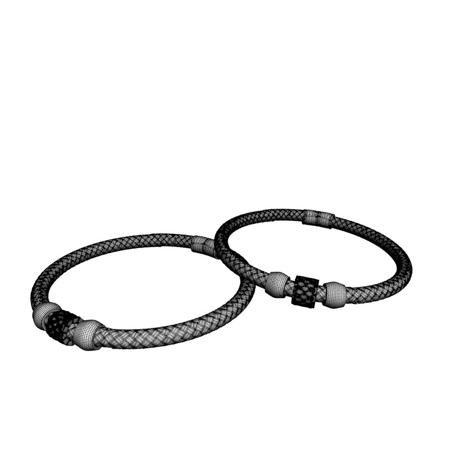 leather bracelet royalty-free 3d model - Preview no. 8