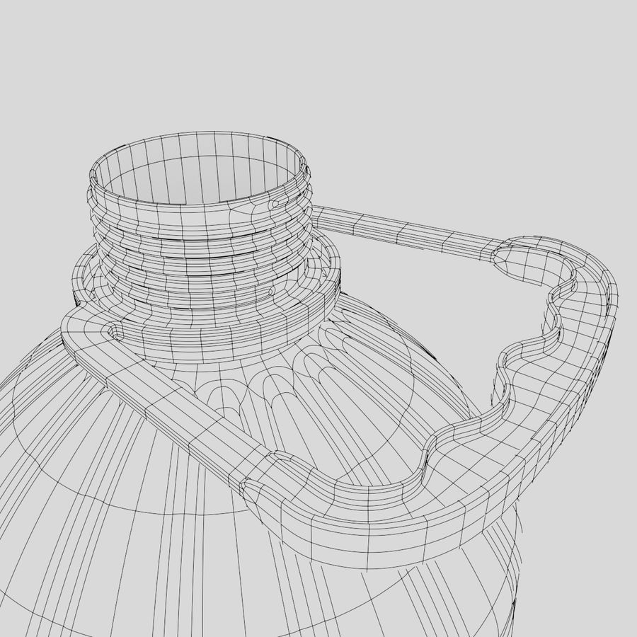 Water bottle royalty-free 3d model - Preview no. 7