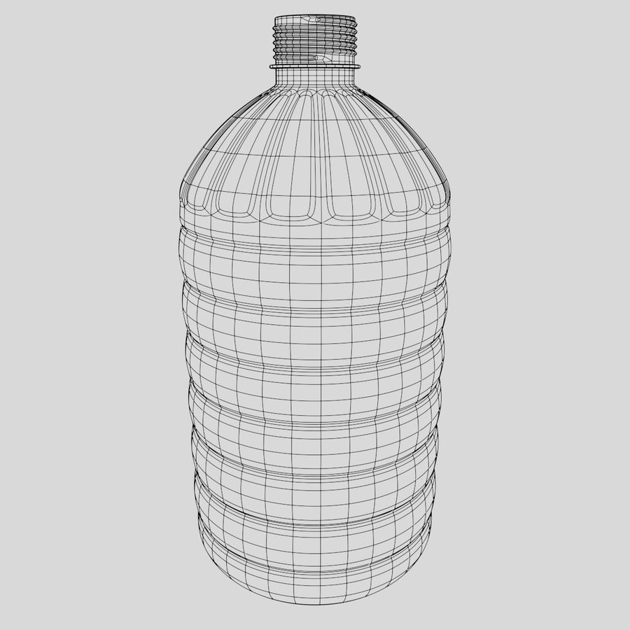 Water bottle royalty-free 3d model - Preview no. 5