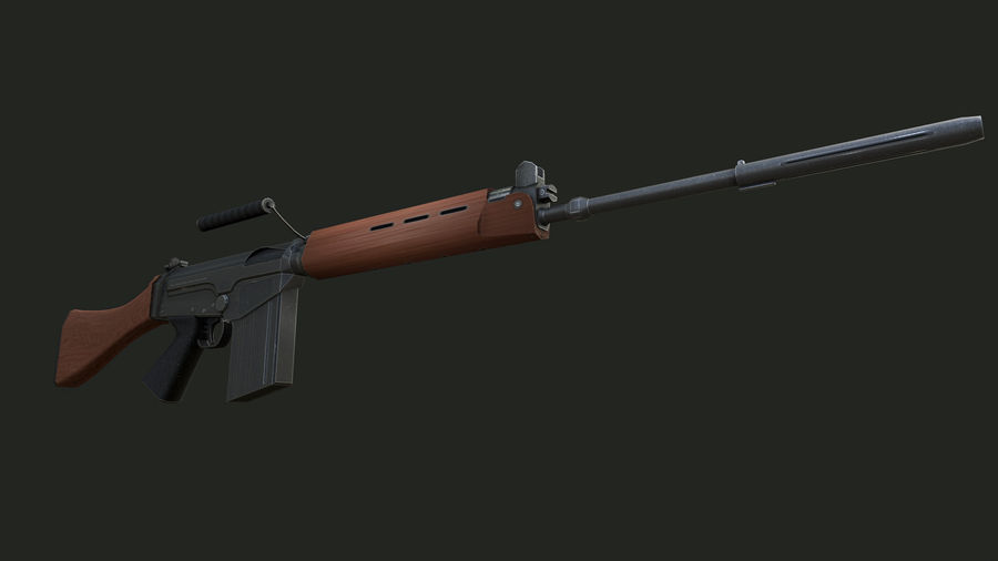 FN FAL royalty-free 3d model - Preview no. 6