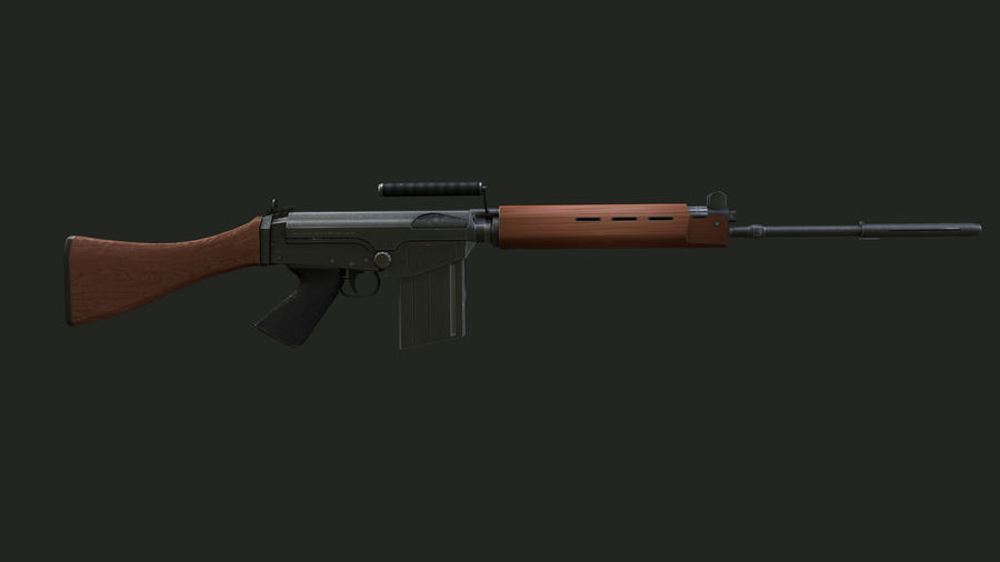 FN FAL royalty-free 3d model - Preview no. 5