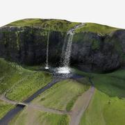 Vattenfall på Island 3d model