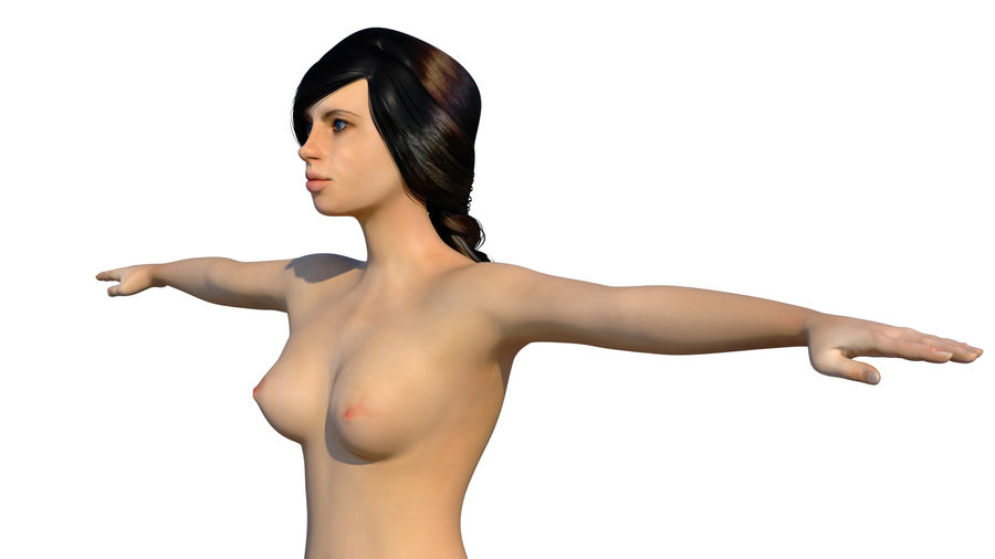 Płeć żeńska royalty-free 3d model - Preview no. 15