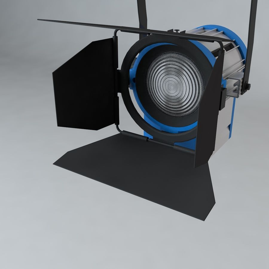Production Light with Pipe Clamp royalty-free 3d model - Preview no. 3