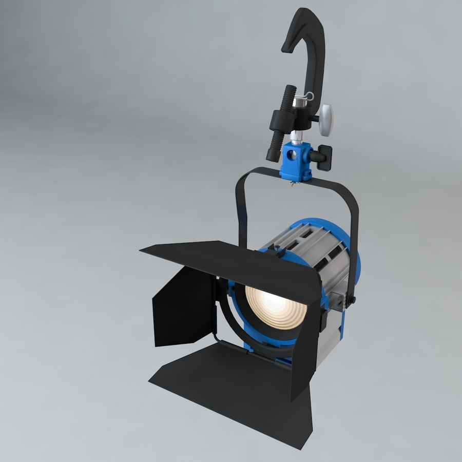 Production Light with Pipe Clamp royalty-free 3d model - Preview no. 1