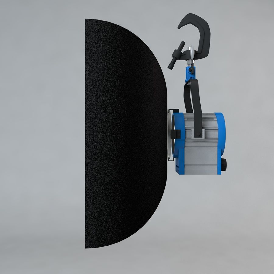 Production Light with Pipe Clamp royalty-free 3d model - Preview no. 9