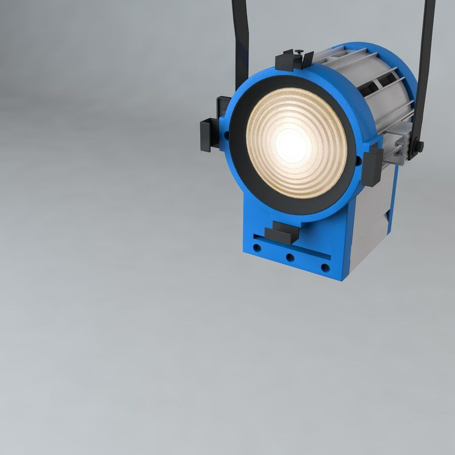 Production Light with Pipe Clamp royalty-free 3d model - Preview no. 4