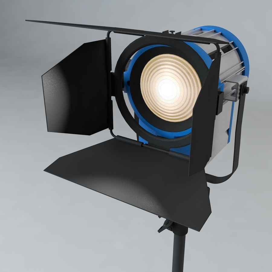 Production Light with Stand royalty-free 3d model - Preview no. 3