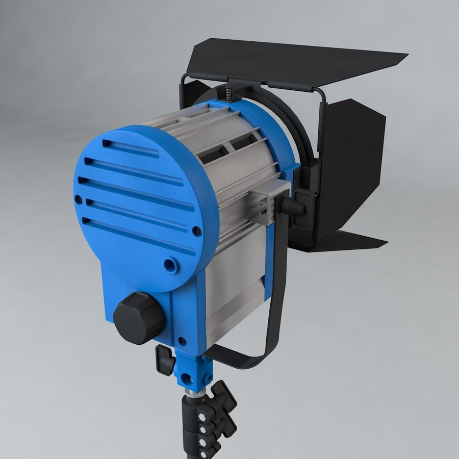 Production Light with Stand royalty-free 3d model - Preview no. 6