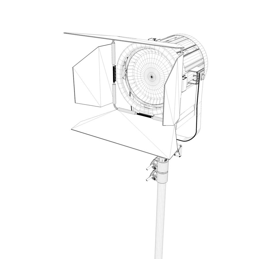 Production Light with Stand royalty-free 3d model - Preview no. 2