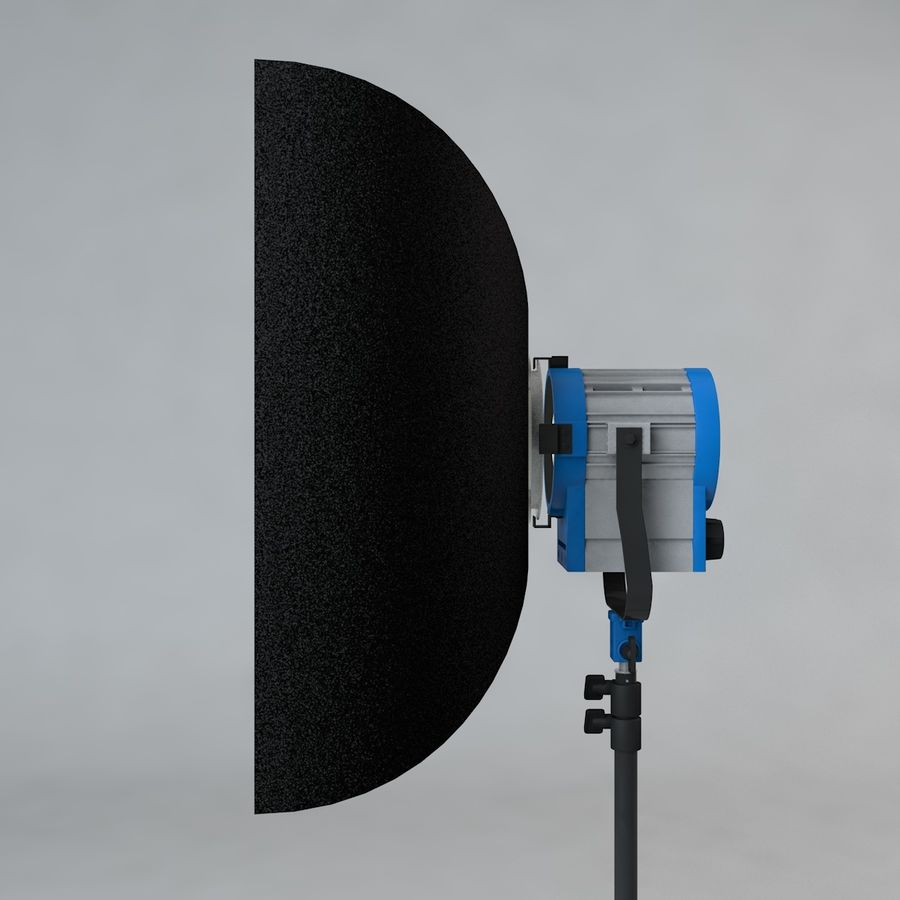 Production Light with Stand royalty-free 3d model - Preview no. 8
