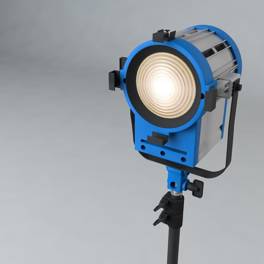 Production Light with Stand royalty-free 3d model - Preview no. 5