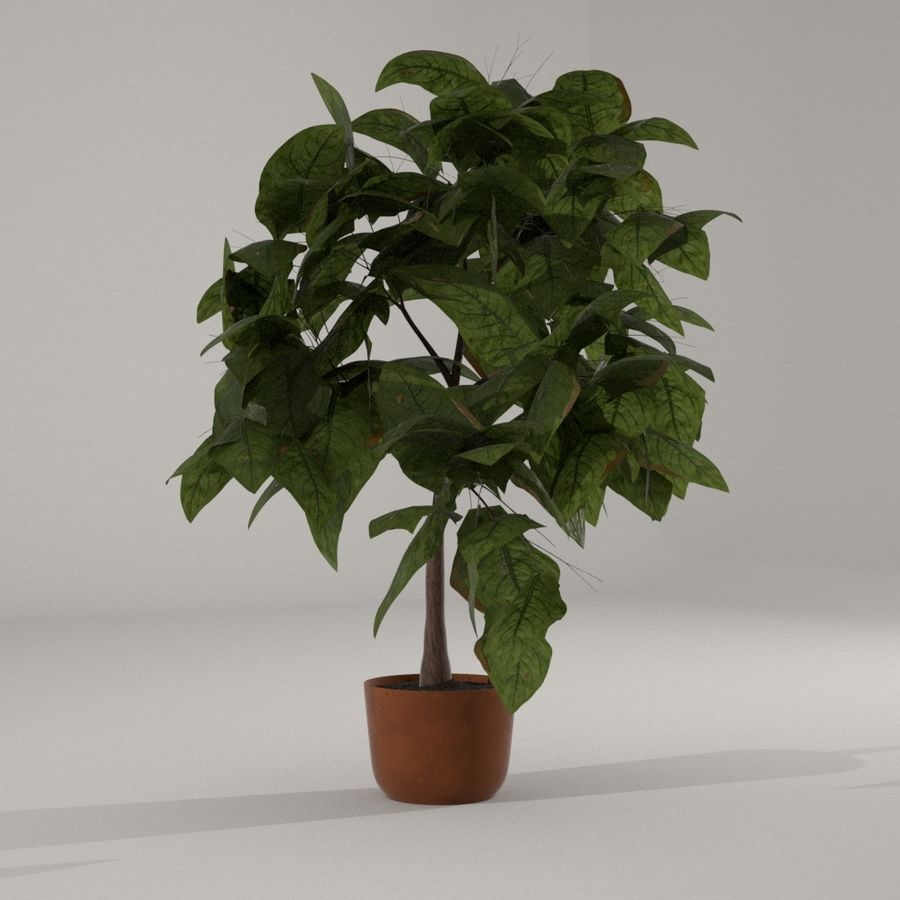 Planta da casa royalty-free 3d model - Preview no. 1