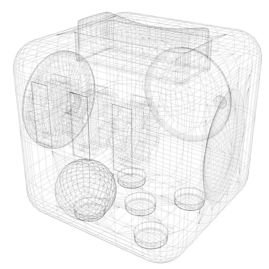 Fidget Cube royalty-free modelo 3d - Preview no. 8