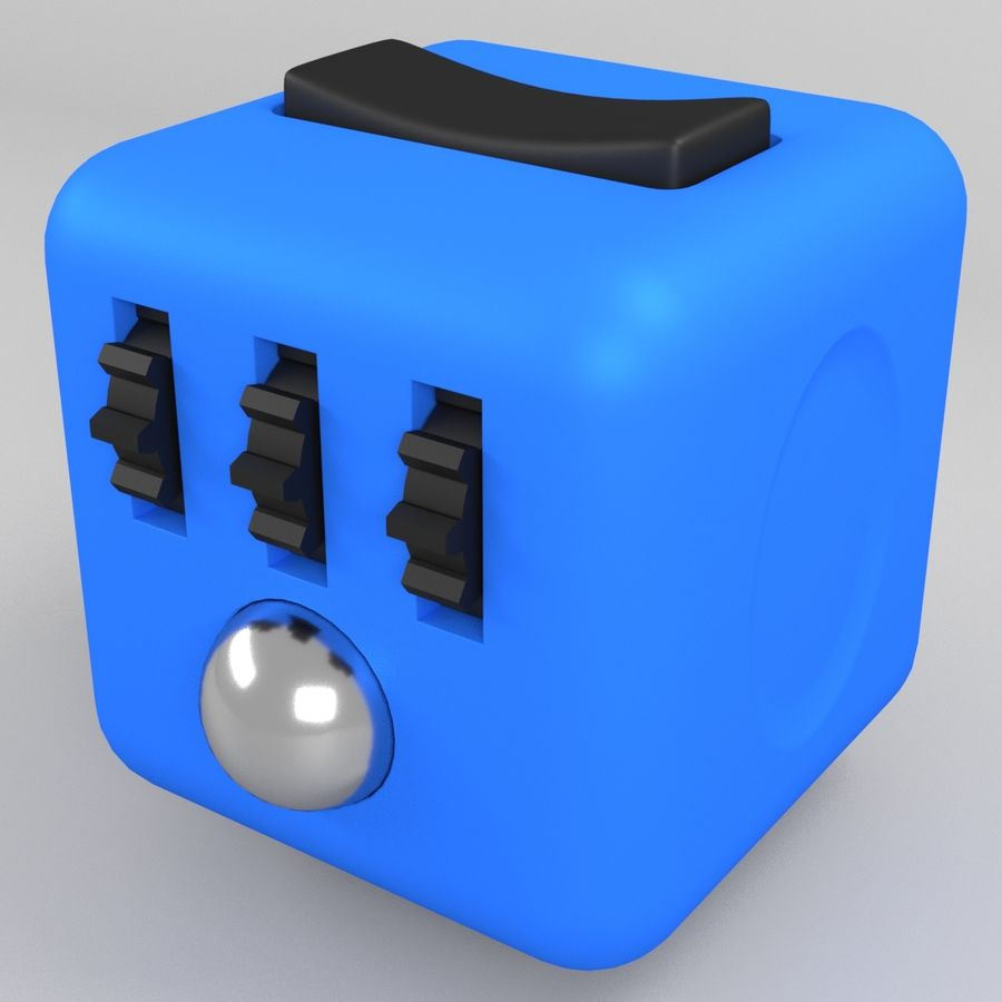 Fidget Cube royalty-free modelo 3d - Preview no. 1