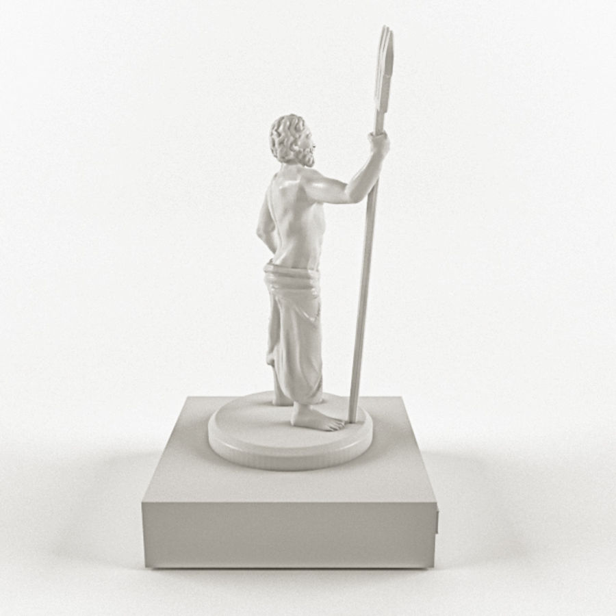 Deus - Poseidon royalty-free 3d model - Preview no. 4