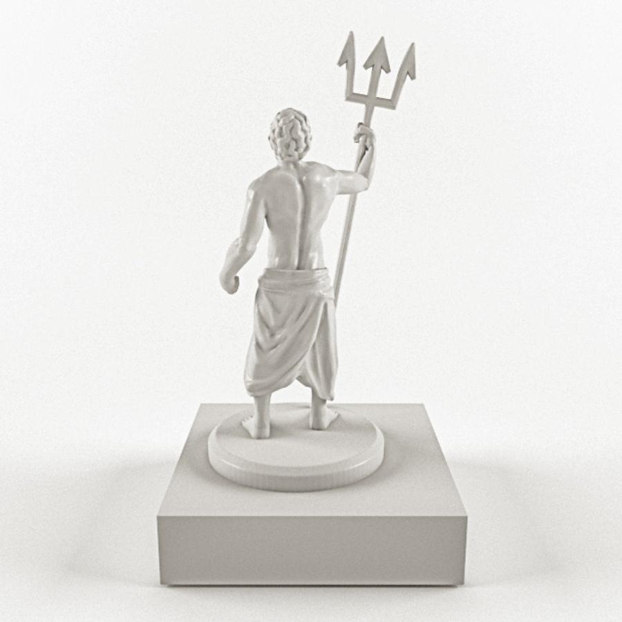 Deus - Poseidon royalty-free 3d model - Preview no. 5