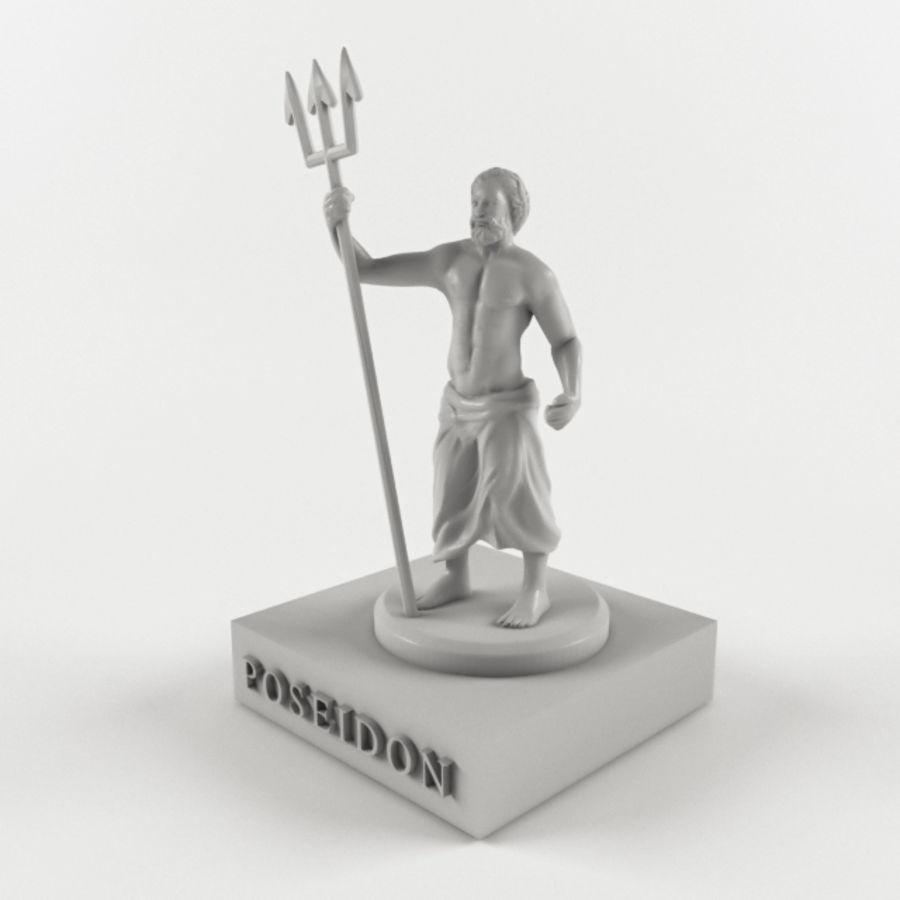 Deus - Poseidon royalty-free 3d model - Preview no. 1