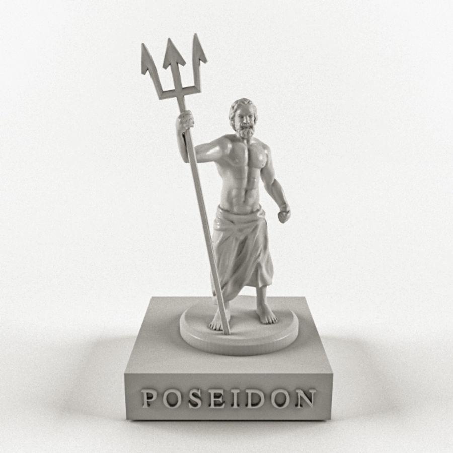 Deus - Poseidon royalty-free 3d model - Preview no. 3