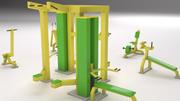 wyposażenie siłowni 3d model