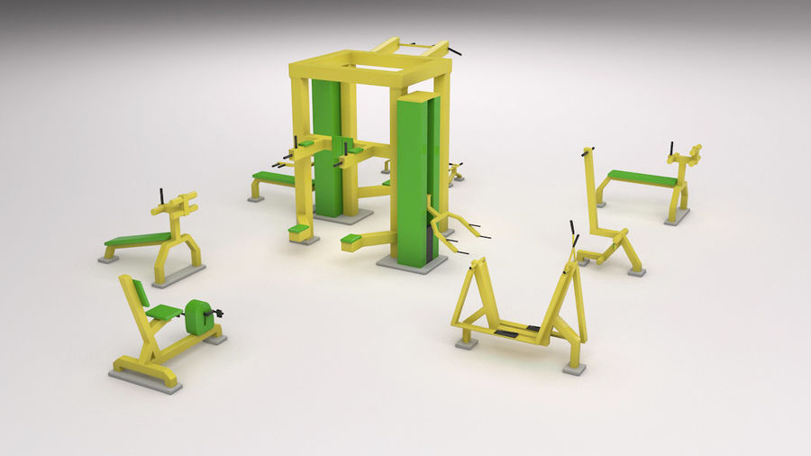 équipement de gym royalty-free 3d model - Preview no. 5