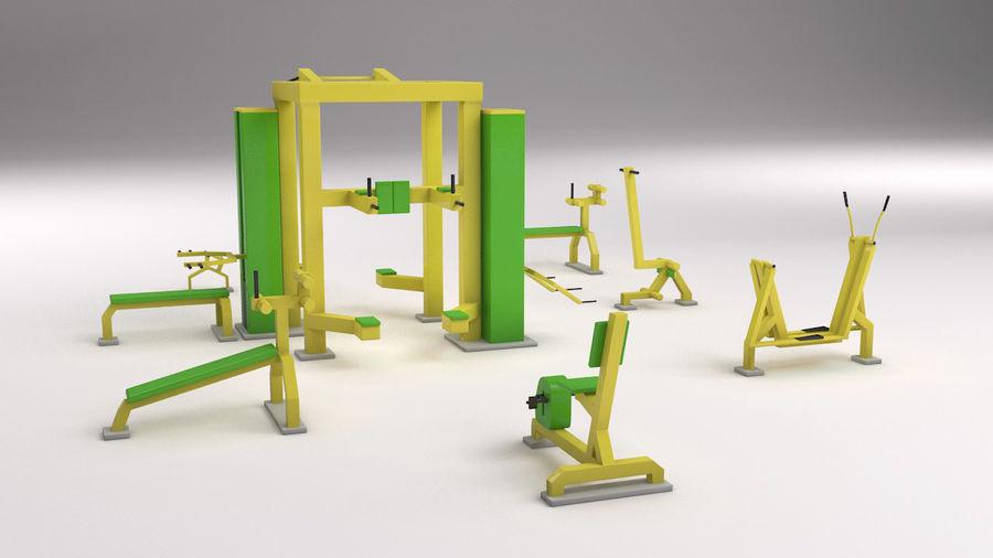 équipement de gym royalty-free 3d model - Preview no. 6