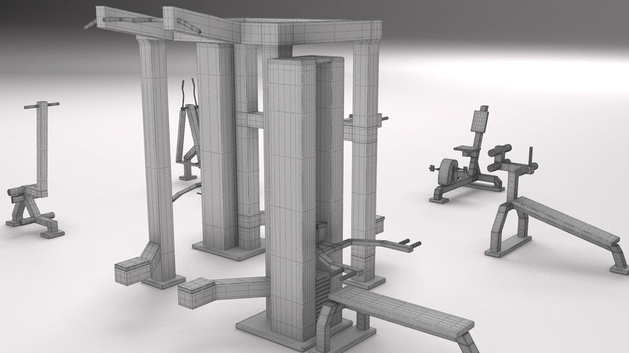 équipement de gym royalty-free 3d model - Preview no. 4