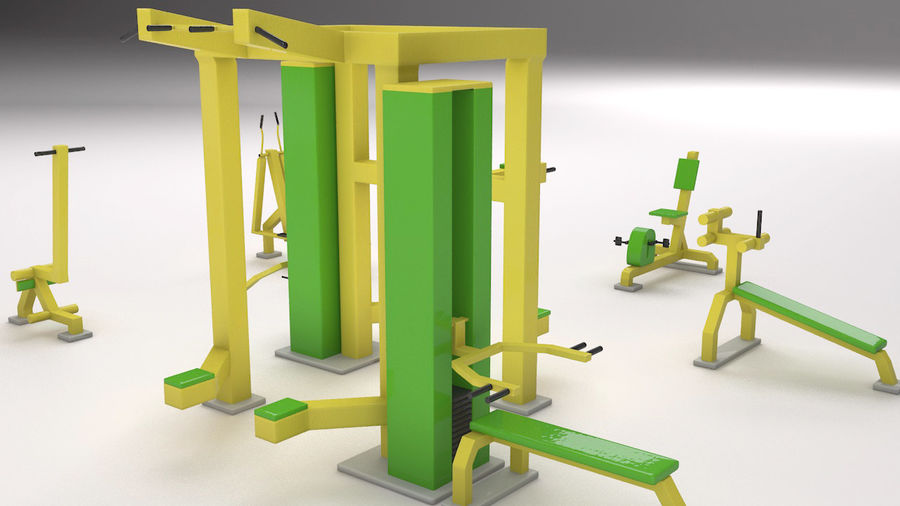 équipement de gym royalty-free 3d model - Preview no. 1