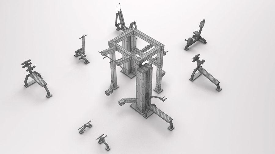 équipement de gym royalty-free 3d model - Preview no. 3
