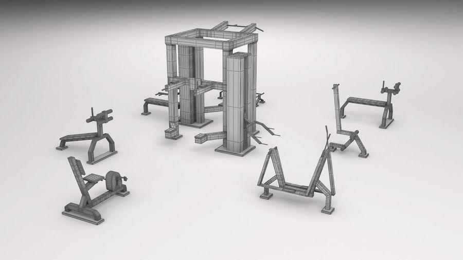 équipement de gym royalty-free 3d model - Preview no. 2