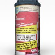 Ancienne colonne de publicité 3d model