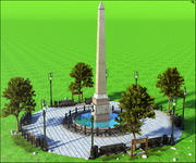 European Square 3d model
