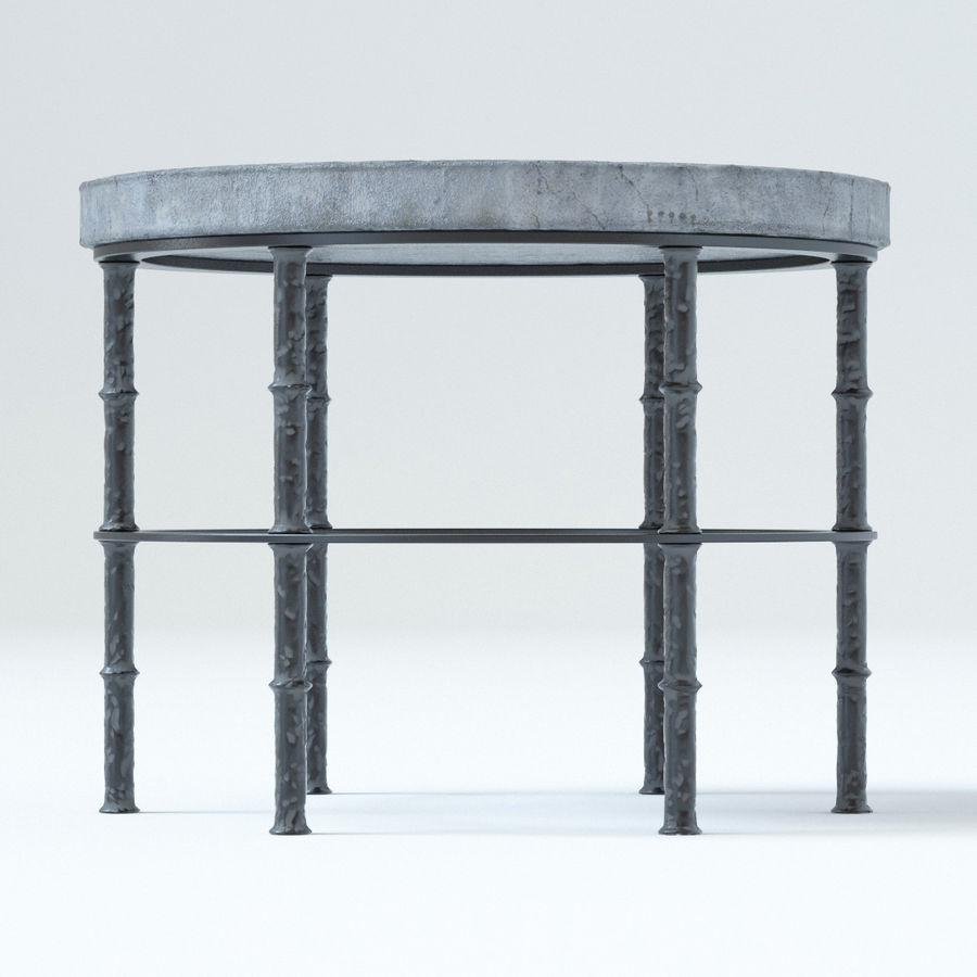 Rowen Bluestone Round Side Table royalty-free 3d model - Preview no. 4