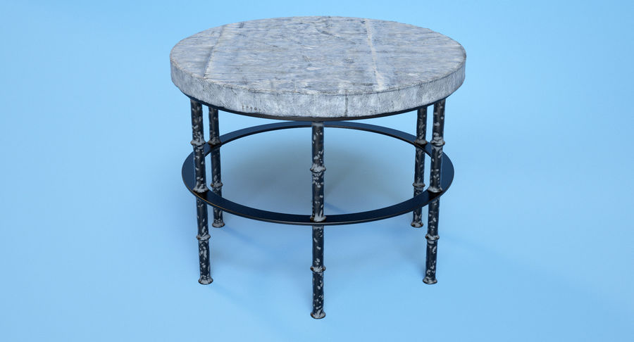 Rowen Bluestone Round Side Table royalty-free 3d model - Preview no. 3