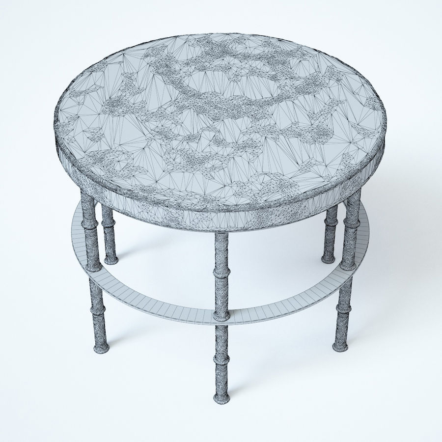 Rowen Bluestone Round Side Table royalty-free 3d model - Preview no. 10