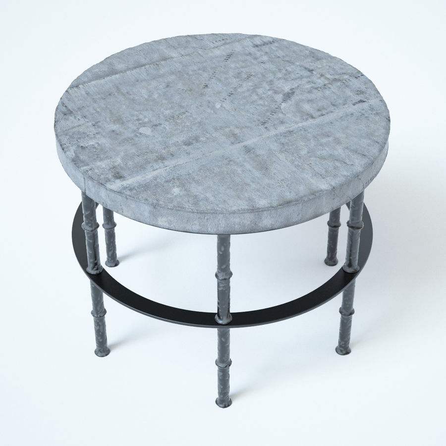 Rowen Bluestone Round Side Table royalty-free 3d model - Preview no. 5