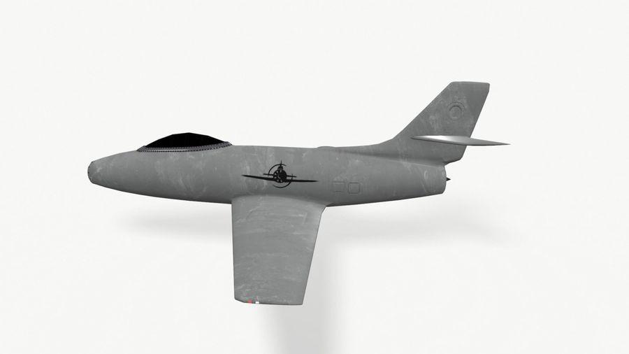 제트 전투기 항공기-저 폴리 PBR royalty-free 3d model - Preview no. 8