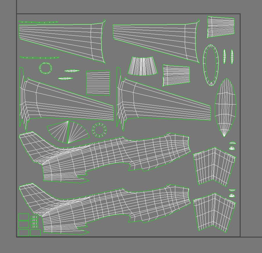 제트 전투기 항공기-저 폴리 PBR royalty-free 3d model - Preview no. 12