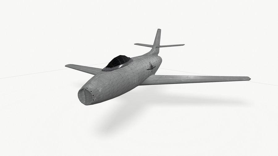 제트 전투기 항공기-저 폴리 PBR royalty-free 3d model - Preview no. 3
