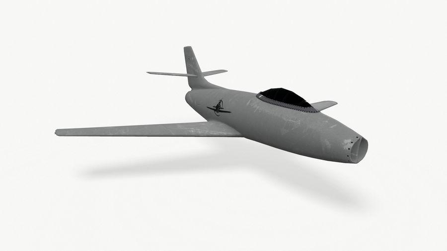 제트 전투기 항공기-저 폴리 PBR royalty-free 3d model - Preview no. 4