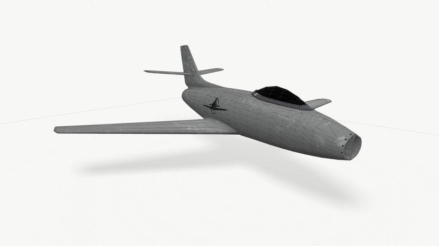 제트 전투기 항공기-저 폴리 PBR royalty-free 3d model - Preview no. 5