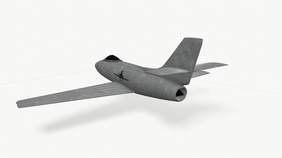 제트 전투기 항공기-저 폴리 PBR royalty-free 3d model - Preview no. 7